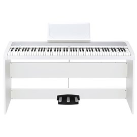 Piano Digital B1 SP 88 teclas com Estante Original STB1 e Pedais PU2 Korg - Branco (WH)