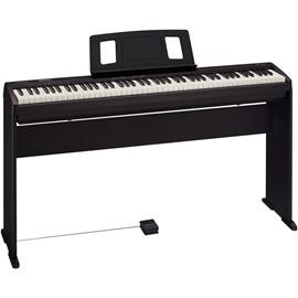 Piano Digital FP 10 Preto com KSC FP 10 e Pedal Sustain DP 2 Roland - Preto (BK)