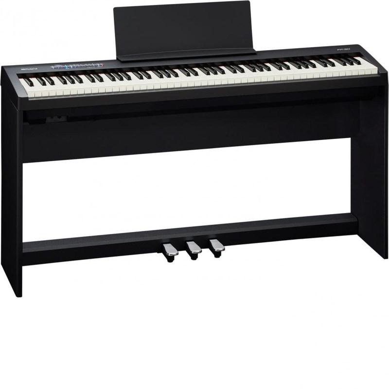 Piano Digital FP 30 com Estante KSC 70 e Pedalboard KPD 70 Roland - Preto (BK)