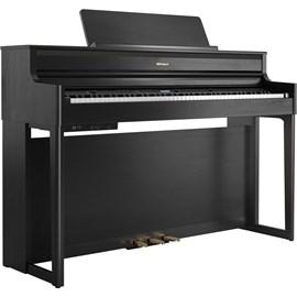 PIANO DIGITAL HP704 CH COM  KSH 704 2CH e BNC 05 BK2 Roland - Charcoal Black (CH)