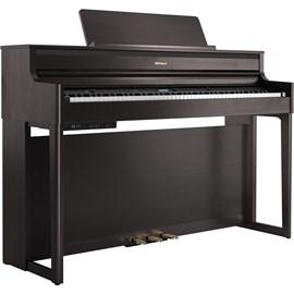Piano Digital HP704 DR com KSH 704/2CH e BNC 05 BK2 Roland - Marrom (Dark Rosewood) (DR)