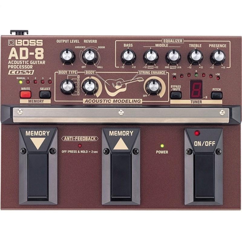 Processador AD8 Pedaleira de Efeitos e Timbres para Violão Boss