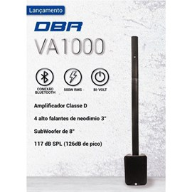 Sistema de Som 500W RMS Vertical Array VA1000 DBR