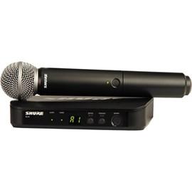 Sistema Sem Fio BLX 24 com Microfone SM 58 Frequência J10 Shure