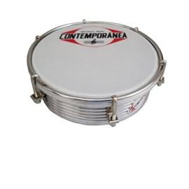 """Tamborim 429c Aluminio 06"""" Nylon Cr Frisado 6 Tarraxas Contemporânea"""
