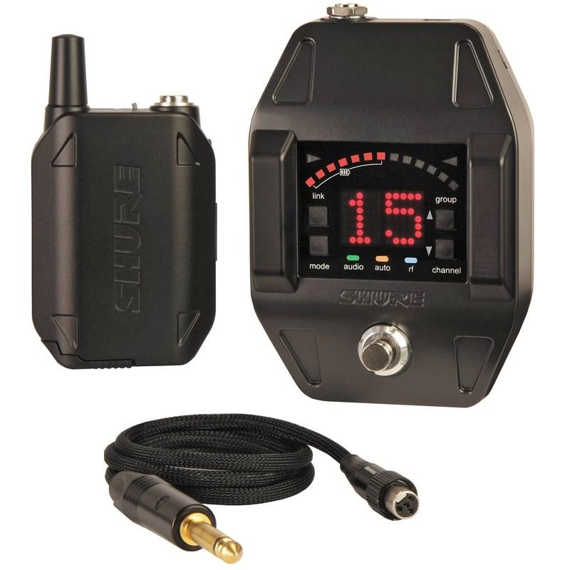 Transmissor com Receptor Sem Fio Pedal e Body Pack GLXD16br Shure