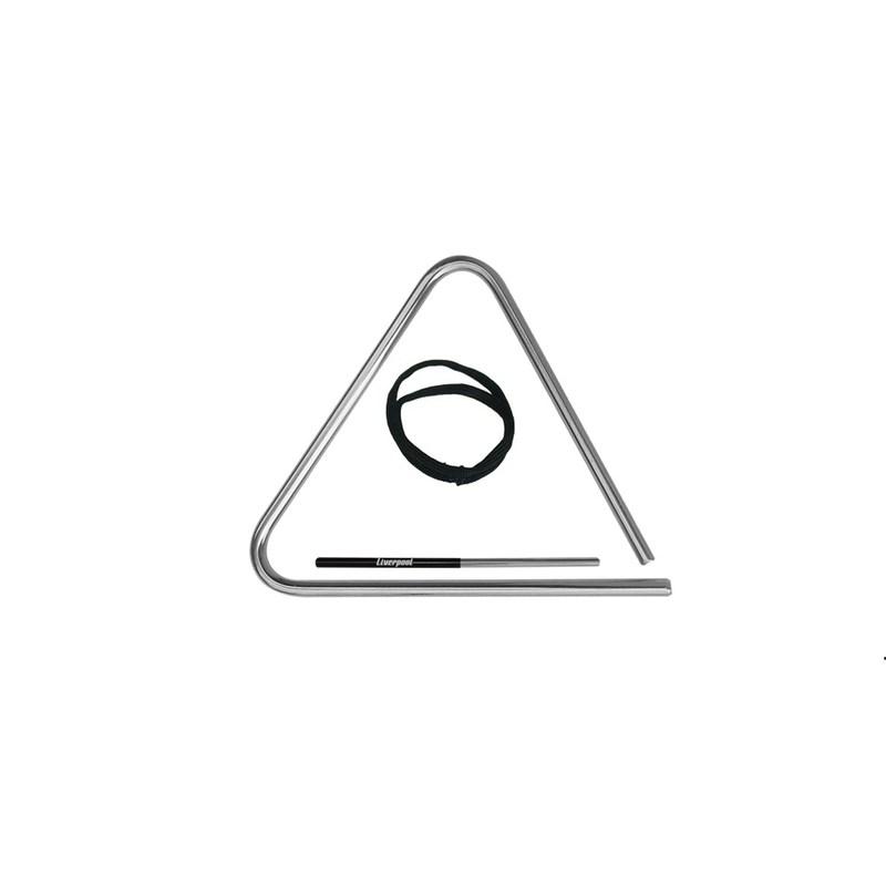 Triângulo de Aço Cromado 15cm Tr15 Liverpool
