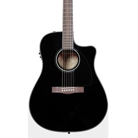 Violão Dreadnought Folk Aço CD 60 CE com Case Fender - Preto (Black) (06)
