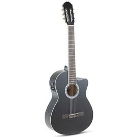 Violão Flat Nylon Eletroacústico E-Acoustic Black GEWA