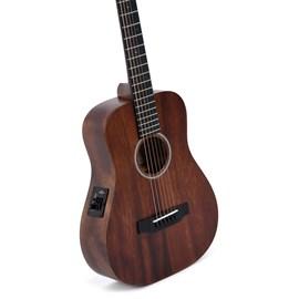 Violão Sigma Tm 15e Travel Guitar Elétrico Aço com Captação Fishman e Afinador